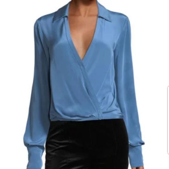 530cf4b52f413 Diane Von Furstenburg Silk Crossover Size 2